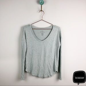 AEO soft and sexy ribbed blouse top